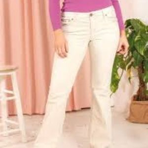 LOFT Corduroy Cream Pant Flare